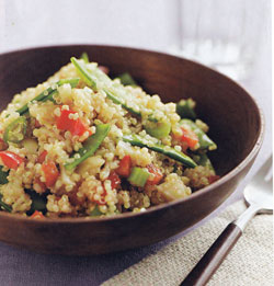 Asian Style Quinoa Salad made with White Quinoa