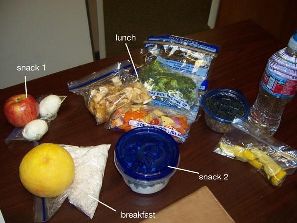Chelle's clean cooler food Feb 17, 2011