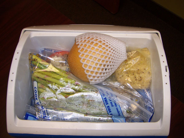 Chelle's clean eating cooler Jan 31, 2011