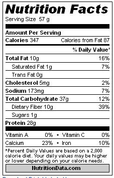 Oatmeal with Protein Powder and Ground Flax - Nutritional Info
